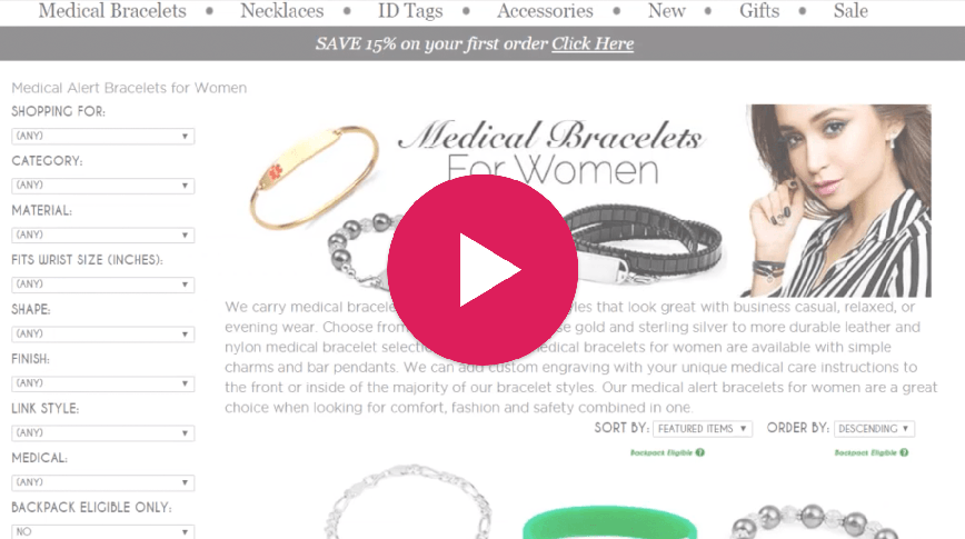 Video thumbnail: Shopping for Backpack eligible Medical IDs