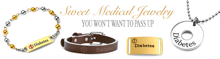 diabetic jewelry and custom diabetic bracelets