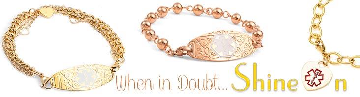 Gold Medical Bracelets