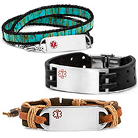 Leather ID Bracelets