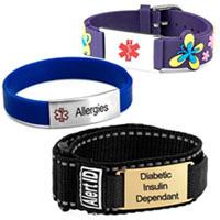 sports ID & silicone medical alert bracelets