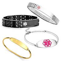 stainless steel medical id bracelets
