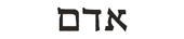 adam in hebrew