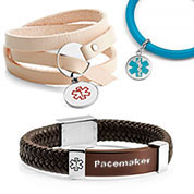 Leather ID Bracelets