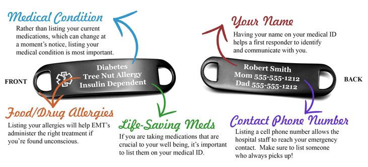 What To Engrave On a Medical Alert Bracelet