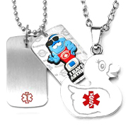 kids id necklace
