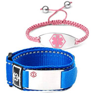 sports ID & silicone medical alert bracelets