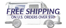PFree Shipping on US orders over 50 dollars