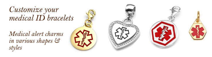 Charms For Medical Alert Bracelets
