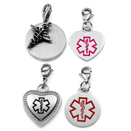 Medical items medical alert charms medical alert necklaces chains medical id alert charms mozeypictures Images