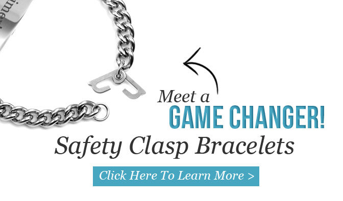 Our new safety clasp bracelets are perfect for patients with alzheimers, dementia and autism
