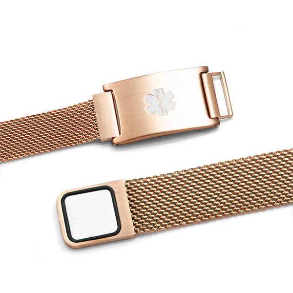 Rose Gold Stainless Magnetic Closure Medical Bracelet inset 1