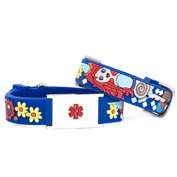 Princess Medical ID Bracelet for Girls inset 2
