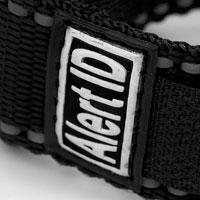 Black Sport Strap Medical ID Bracelets for Children & Adults inset 3