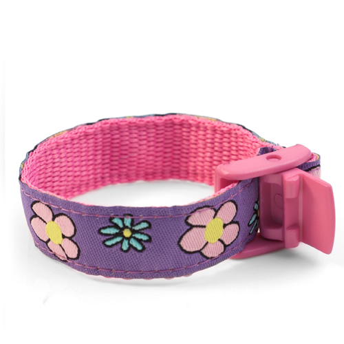 Girls Flower Sport Band Kids ID Bracelet 4 - 8 Inch inset 2
