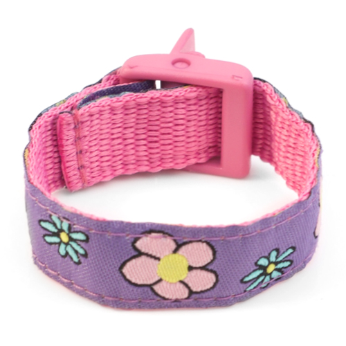 Girls Flower Sport Band Kids ID Bracelet 4 - 8 Inch inset 3