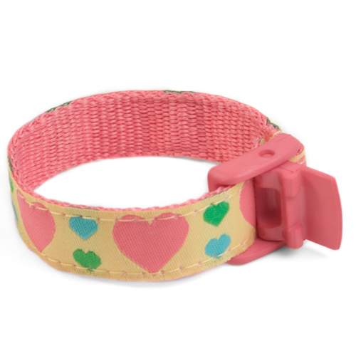 Girls Hearts Medical Sport Band Bracelet 4 - 8 Inch inset 2