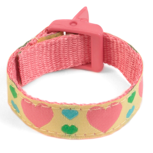 Girls Hearts Medical Sport Band Bracelet 4 - 8 Inch inset 3