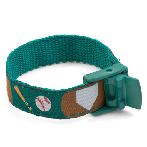 Baseball Medical Sport Band Bracelet for Boys or Girls 4 - 8 Inch inset 2