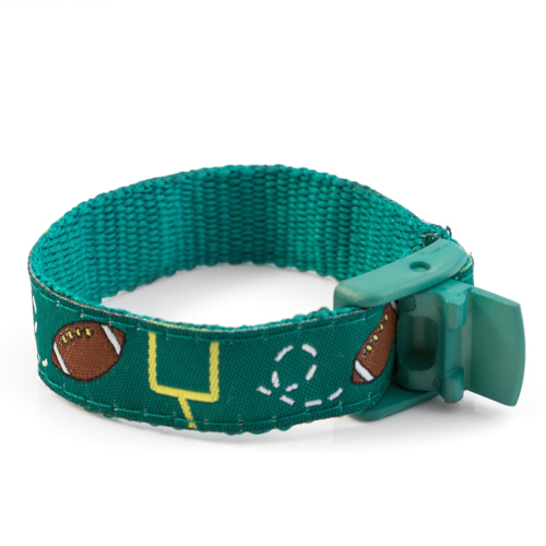 Football Pattern Sports Strap Medical ID Bracelet for Kids inset 2