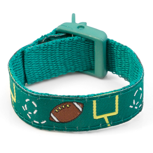 Football Pattern Sports Strap Medical ID Bracelet for Kids inset 3