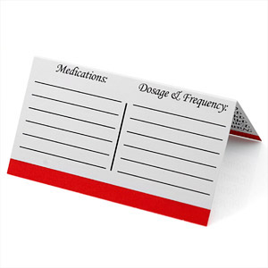 Emergency Medical ID Card for Wallet Pack of 50 inset 2