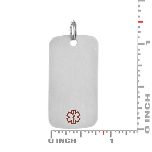 Medium Brushed Steel Medical Dog Tag inset 1
