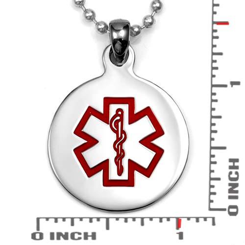 Round Medical Stainless Pendant Medium inset 1