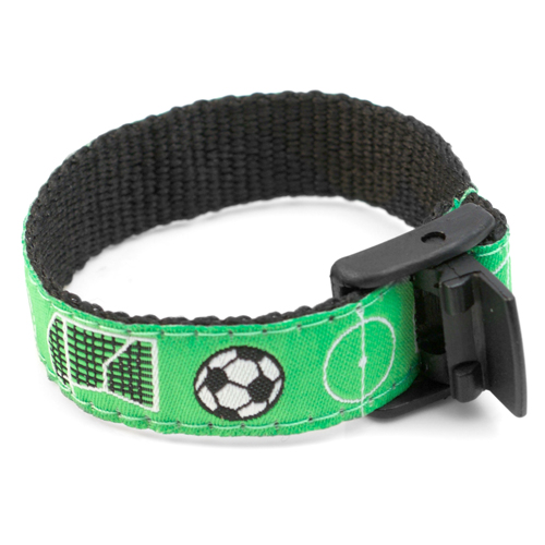 Soccer Star Safety Bracelet for Children Fits 4 - 8 In Arms inset 2