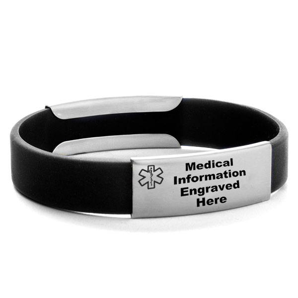 All Warriors Have Scars Silicone Medical Alert Bracelets inset 1