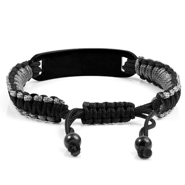 Black & Grey Macrame Diabetic Bracelet inset 1