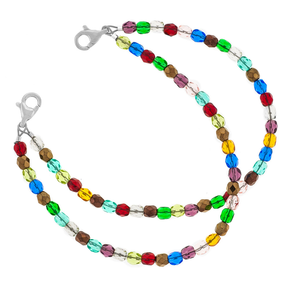 Colorful Bead Medical Bracelet with Designer Tag inset 1