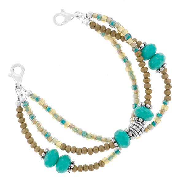 Desert Treasure Beaded Medical Alert Bracelet inset 1
