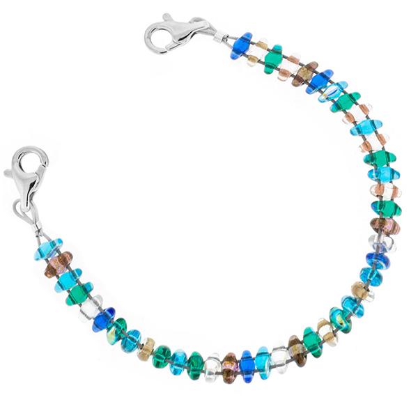 Seaside Beaded Medical ID Bracelet  inset 1