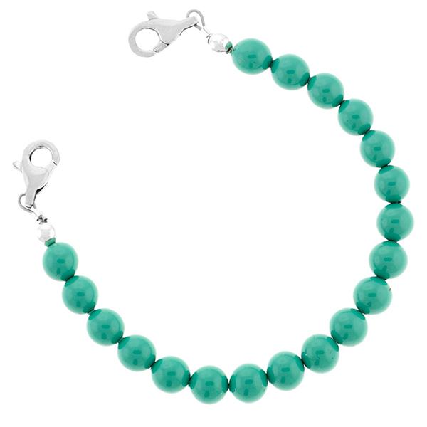 Pearl Beaded Medical ID Bracelet  inset 1