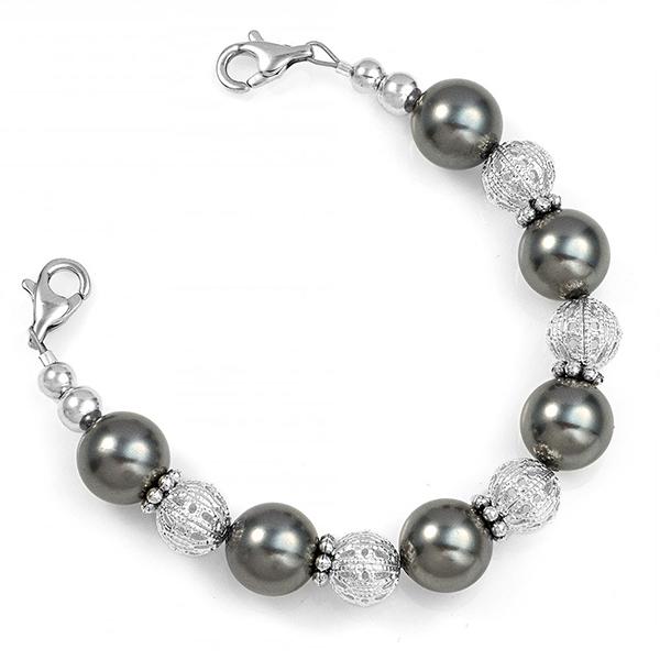 Stunning Pearl Beaded Medical Bracelet inset 1
