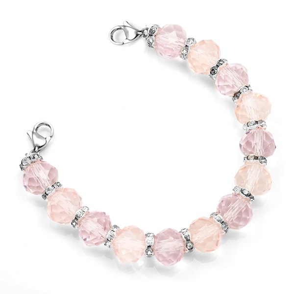 Light Pink Stretch Medical Bead Bracelet inset 1