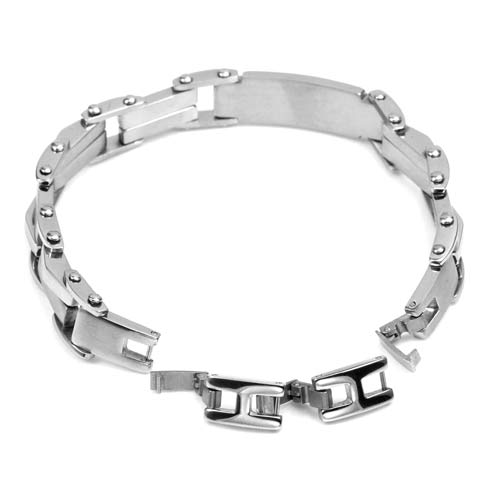 Marlon Stainless Steel Medical Bracelet inset 1