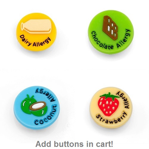 Kids Rubber Allergy Bracelets for Buttons inset 3