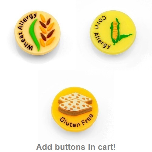 Kids Rubber Allergy Bracelets for Buttons inset 4