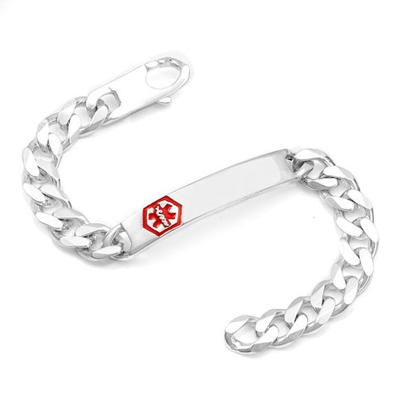 Rihan Sterling Silver Medical ID Bracelet inset 1
