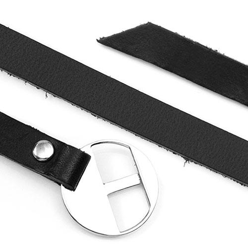 Black Wrap Style Leather ID Bracelet inset 1