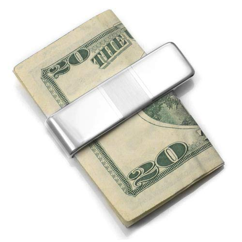Brushed Accent Sterling Silver Money Clip 2 In inset 1