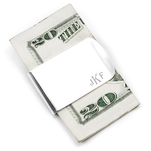 Personalized Sterling Silver Wide Money Clip inset 1