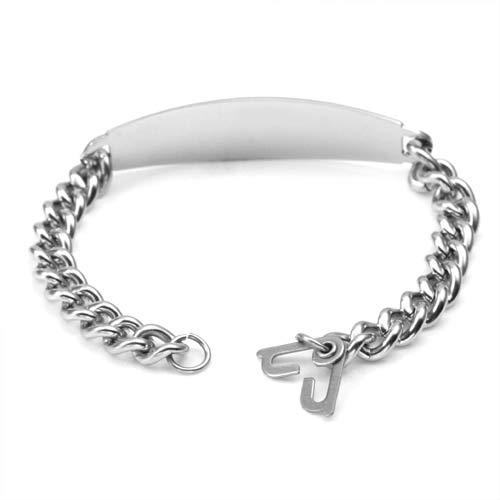 Wide Style Alzheimers Bracelet With Optional Safety Clasp inset 1