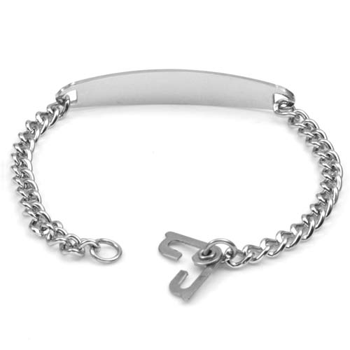 Slim Style Alzheimers Bracelet with Optional Safety Clasp inset 2