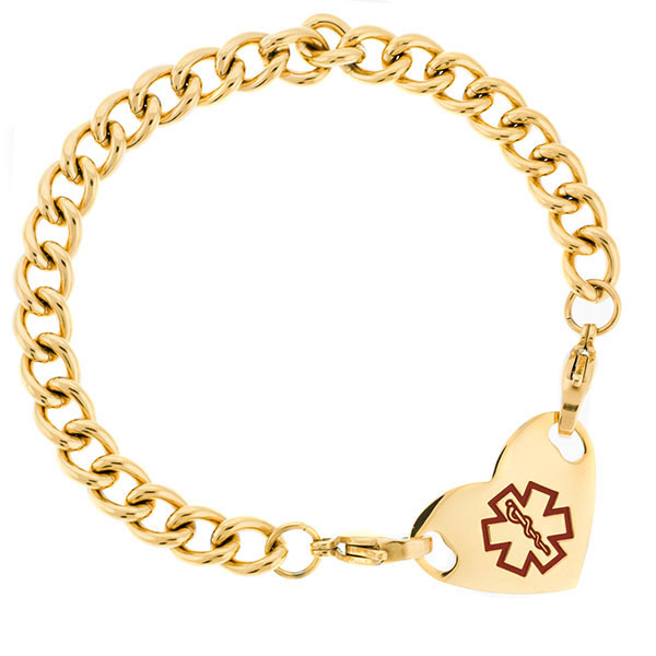 Six Inch Gold Plated Thick Curb Link Bracelet  inset 2
