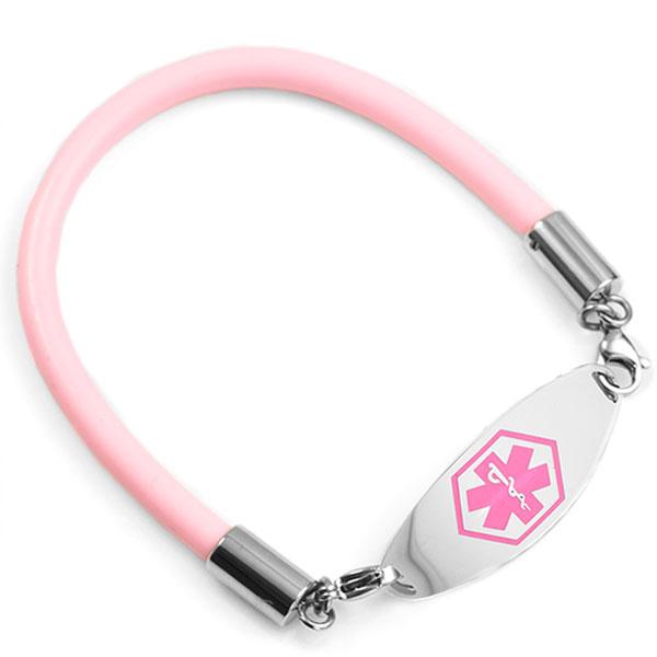 Six Inch Light Pink Rubber Bracelet inset 1
