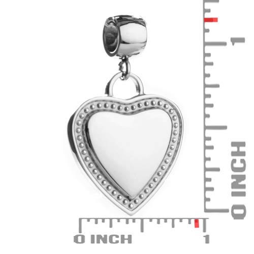 Lovely Heart Charm Pendant inset 1
