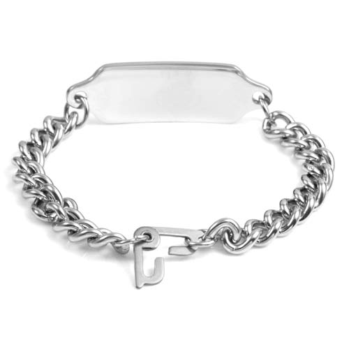 G Adult Stainless Steel Medical Bracelet (Optional Safety Clasp) inset 2